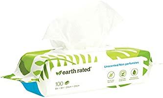 Earth Rated Dog Wipes - 100 Compostable Pet Grooming Wipes For Dogs & Cats - USDA-Certified 99 Percent Biobased -...