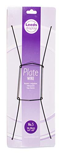 Leeds Display : PW50BKL : Wire Plate Hanger No.5 : Black : 36-46cm/ 14-18 Inch