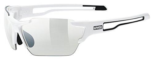 uvex Unisex– Erwachsene, sportstyle 803 V Sportbrille, selbsttönend, white/smoke, one size