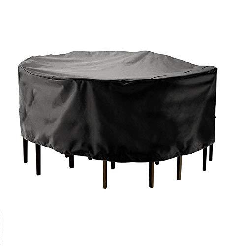 Muebles de jardín al aire libre Cubierta de mesa redonda Silla de silla de mesa impermeable Oxford Mimbre Sofá Protección Patio Snow Snow Polvo a prueba de polvo Cubiertas cubierta de muebles 771