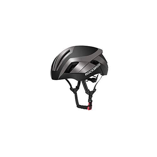 ROHOME Fahrradhelm Reflektierender Fahrradhelm 3 in 1 MTB Rennrad Herren Sicherheit Licht Helm Integral Molded Pneumatisch Einheitsgröße grau