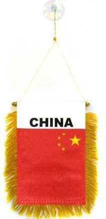 AZ FLAG Fanion Chine 15x10cm - Mini Drapeau Chinois 10 x 15 cm spécial Voiture - Bannière
