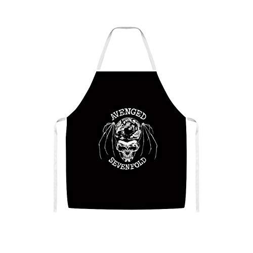 Ives Jean Apron Bib Apron Waterproof Oil-proof Cooking Kitchen for Women Men Avenged Sevenfold Logo Bib Apron for Barbecue