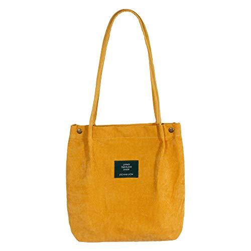 Eflying Lion Cord Schultertasche Damen,Lässige Handtasche,Mädchen Handtasche