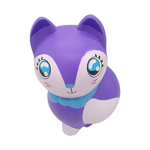 Xuways Animals Squishy Toys Party Favors for Kids,Ultra Soft Purple Large Fox Dolls Kawaii Sweet Scented Squishies Slow Rising Kids Toy for Birthday Gift,Autism, ADHD and Stress Relief