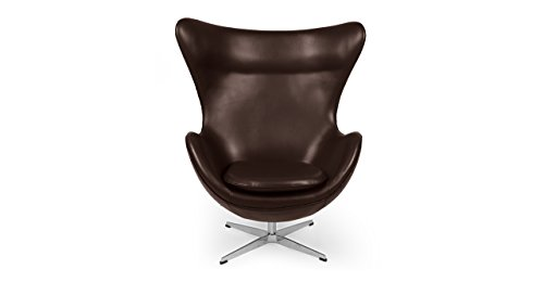 Kardiel Egg Chair, Choco Brown Aniline Leather