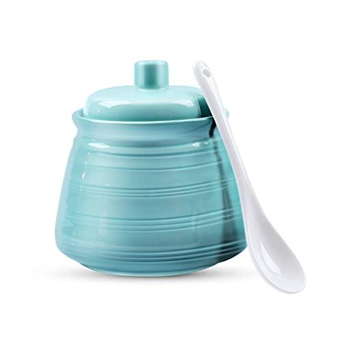 NJCharms Ceramic Sugar Bowl, 12 oz Premium...