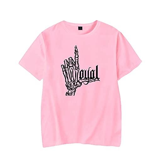 GABIFEIWH Kontra K T-Shirt Print T Shirts Streetwear Harajuku T-Shirts für Damen und Herren Kleidung Gr. L, rose