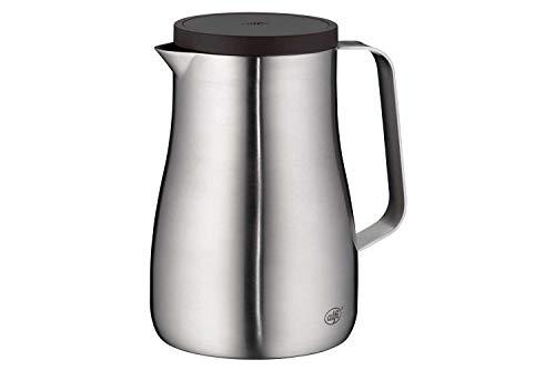 alfi Studio TT, Thermoskanne Edelstahl mattiert 0,7L, Edelstahleinsatz, spülmaschinenfest, 1297.205.070, Isolierkanne hält 12 Stunden heiß, ideal als Kaffeekanne oder Teekanne, Kanne für 6 Tassen