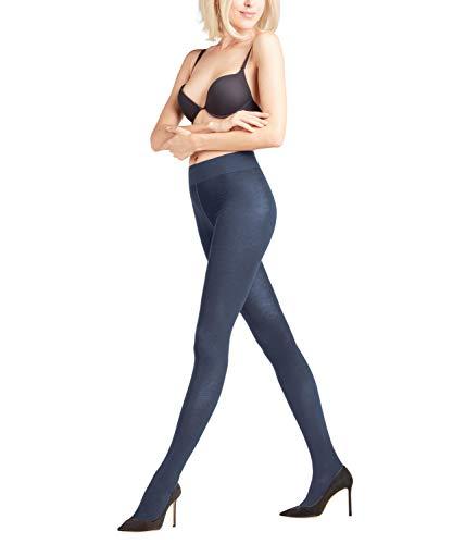 FALKE Damen Strumpfhosen Family - 94% Baumwolle, Hautfreundliche Baumwolle, druckfreier Komfortbund, strapazierfähig, ideal für lässige Looks, 1 Stück , Blau (Navy Blue 6499), 42-44