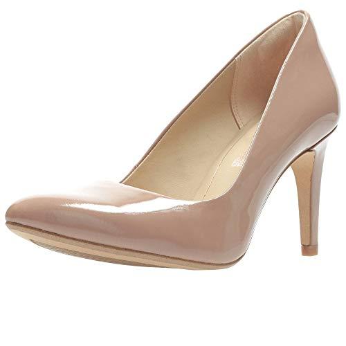 Clarks Women Laina Rae Praline Patent Leather Pumps-6 UK (91261388834060)