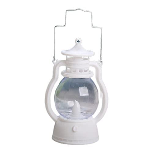 Qirun Linterna LED Vintage Hurricane Linternas Colgantes Antiguas para Uso en Interiores y Exteriores Llama Parpadeante Realista con Pilas