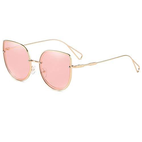 Gafas De Sol para Hombre Y Mujer Moda Marco De Acero Inoxidable Gafas ProteccióN para ConduccióN Gafas De Deportes Al Aire Libre De Pesca De Moda Regalo De San ValentíN (Color : Gold Powder)
