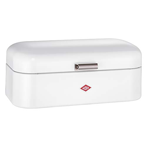 Wesco Grandy – German Designed - Steel bread box for kitchen / storage container, White