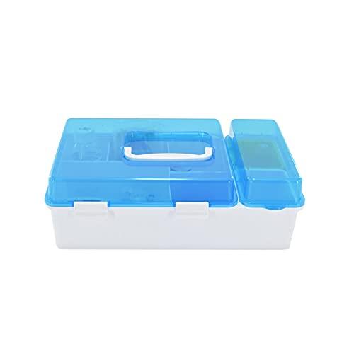 dxjsf Caja médica Cubierta translúcida Cubierta de Primeros Auxilios portátil Caja de Almacenamiento Caja de Almacenamiento Caja de Medicina 11.22 Pulgadas