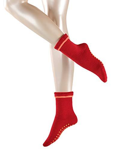 ESPRIT Damen Stoppersocken Cosy - Schurwoll-/Baumwollmischung, 1 Paar, Rot (Sporty Red 8003), Größe: 35-38