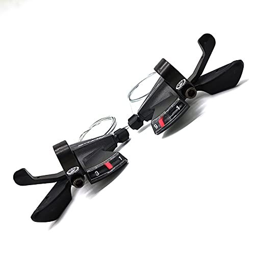 MLDWUL SL-M370 Shifter MEGA 9 Drive Train 3x9 Speed MTB Bike Shifting Lever Set Bicycle Derailleur Parts Easy To Install Black ALLOY (Color : A Pair)