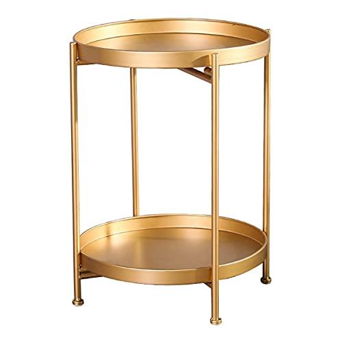 LYLSXY Tavolino Rotondo in Metallo Tavolino da Esterno E All'aperto Tavolino, Soggiorno Tavolini da Spuntino da Bevande (Color : C)