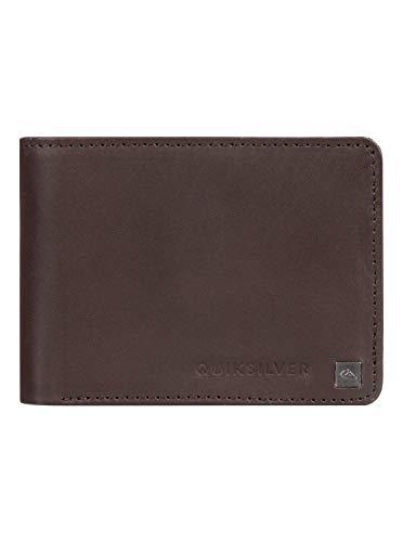 Quiksilver Herren Zweifach Faltbares Portemonnaie Aus Leder Mack - Zweifach Faltbares Portemonnaie Aus Leder für Männer, Chocolate Brown, L, EQYAA03813