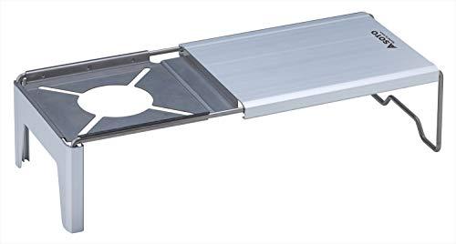 ソト(SOTO) ミニマルワークトップ ST-3107 シルバー 本体サイズ:幅33.1×奥行15.3×高さ10.1cm