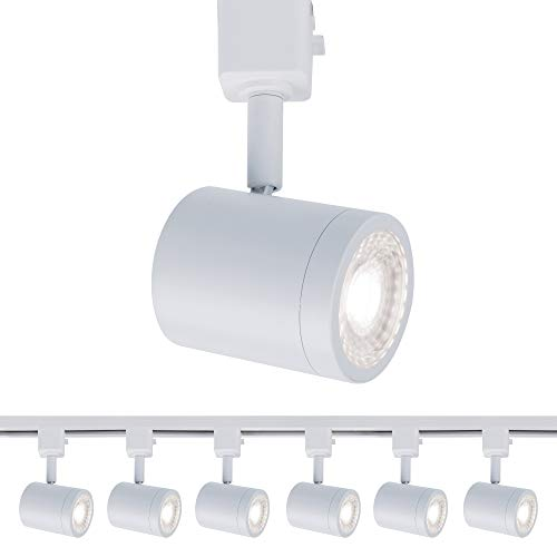 WAC Lighting H-8010-30-WT-6 Charge Head LED Track Fixture, Pack of 6, White, 6 Count