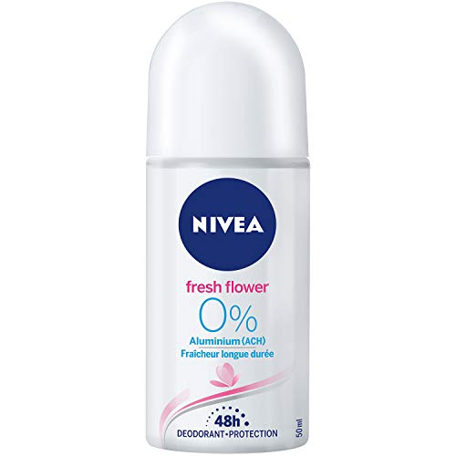 Nivea Fresh Flower Deo-Roller für Damen, Ohne Aluminium, 6er Pack (6 x 50 ml)