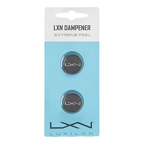 Luxilon LXN Dampener Antivibrador, para raqueta de tenis, 2 unidades, gris