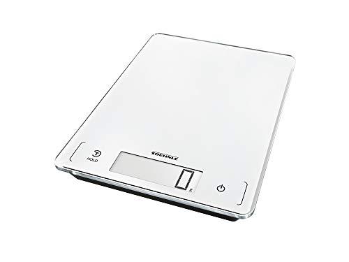 Soehnle Page Profi 300 digitale keukenweegschaal, wit, weegt tot 20 kg, huishoudelijke weegschaal met sensoraanraking, elektronische weegschaal incl. batterijen, verlicht LCD-display