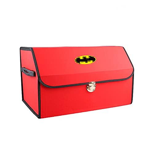 Organisateur De Coffre De Voiture Pour Batman, AntidéRapant Sac De Rangement Voiture Pliable, Caisse Rangement Voiture, Grande Capacité Avec Compartiments Et PoignéE