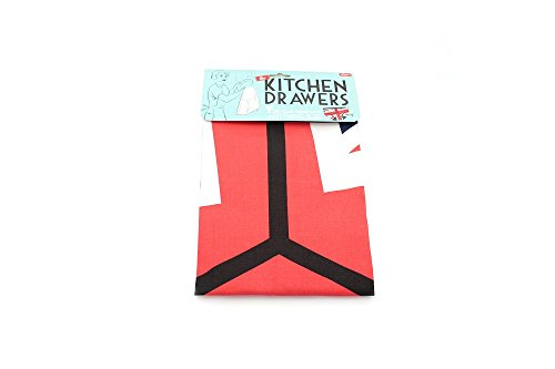 'Kitchen Drawers' Union Jack Y Front Broek Nieuwigheid Theedoek door Dunk Trading Ltd