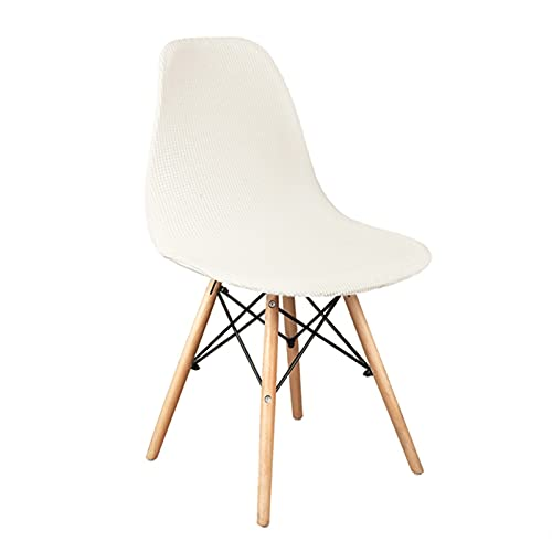 BSZD 1/2/4/6 Stück Samt und Polar Fleece Stoff Stretch Scandinavian Chair Cover, 2021 Waschbare Sitzbezug für Home Hotel (Color : Ivory, Specification : 4 Pcs)