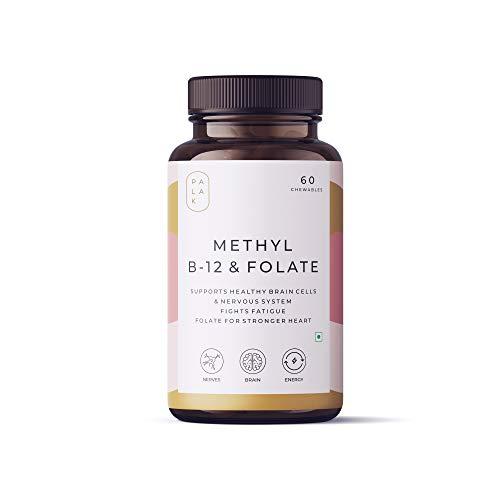 Palak Notes: Vitamin B12 (Methylcobalamin) 1500 mcg + Folate (Methylfolate) 400 mcg+ Vitamin B6 - ENERGY- BRAIN - HEART I Chewable Tablets: 60 Chews (60)