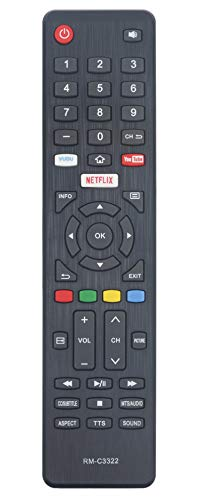 RM-C3322 Replaced Remote fit for JVC 4K Smart LED TV LT-43MA877 LT-49MA877 LT-50MA877 LT-55MA877 LT-58MA887 LT-65MA877 LT-55MA888 LT43MA877 LT49MA877 LT50MA877 LT55MA877 LT58MA887 LT65MA877