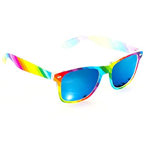 Raibow Frame Vintage Style Sunglasses for Men or Women
