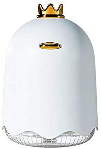 lndytq Humidificador de Coche USB difusor de Coche ultrasónico pequeño humidificador de Niebla frío portátil con Luces LED de 7 Colores en Silencio y Apagado automático (Color: Amarillo)