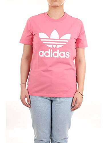 adidas GN2907 Trefoil tee T-Shirt Womens Hazy Rose 44
