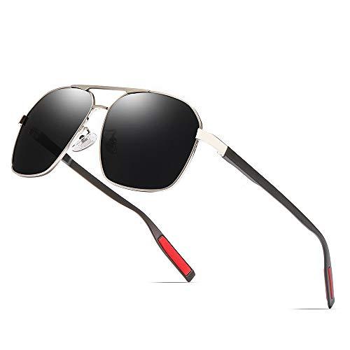SWNN Sunglasses Hombres/Mujeres Gafas De Sol Polarizadas Protección UV Deportes Al Aire Libre Viajes Gafas De Sol Costeras Marco Ultra Ligero (Color : Gray)