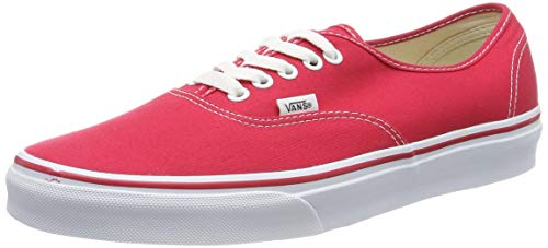 Vans VN000EE3RED Zapatillas de Tenis Unisex, color Rojo / Blanco, 24