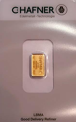 2 Gramm Gold 2 gr Goldbarren Barren Feingold 999,9 C. Hafner