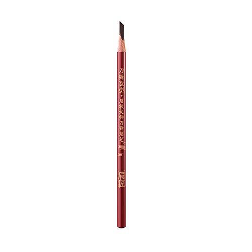 YOGALULU Professional Makeup Crayon à Sourcils Precision Brow, Double-Embout avec Crayon Plat et Goupillon Crayon Sourcil Waterproof stéréo Remplissage des Sourcils