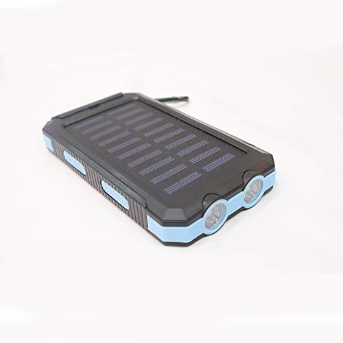 Cargador solar de 20000 mAh, cargador portátil y portátil, batería de respaldo externo con 2 salidas de gran capacidad, compatible con smartphones, tabletas y más