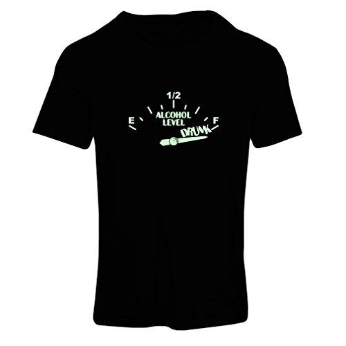 lepni.me Camiseta Mujer Otra Bebida por Favor - Ropa de Fiesta, Citas Divertidas de Alcohol (Large Negro Fluorescente)