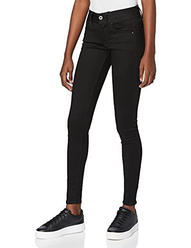 G-STAR RAW Damen Jeans Lynn Mid Waist Super Skinny, Schwarz, 30W/32L