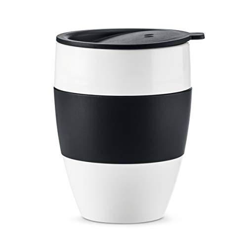 Koziol Unisex– Erwachsene Aroma 2.1 Thermobecher, Thermotasse, Kaffeebecher, Isolierbecher, Coffee-to-go, organic green, One Size