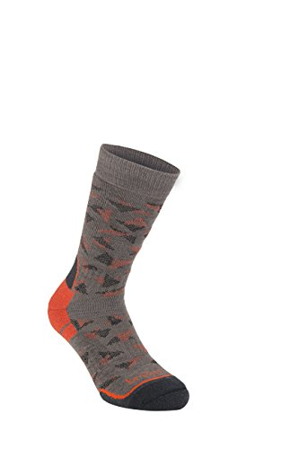 Bridgedale Hike all Season Merino Comfort, Calze Uomo, Brown/Orange, L