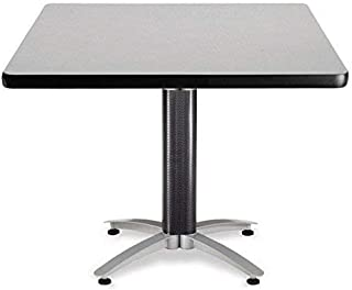 OFM KMT42SQ-GRYNB Multi-Purpose Square Table with Metal Mesh Base, 42
