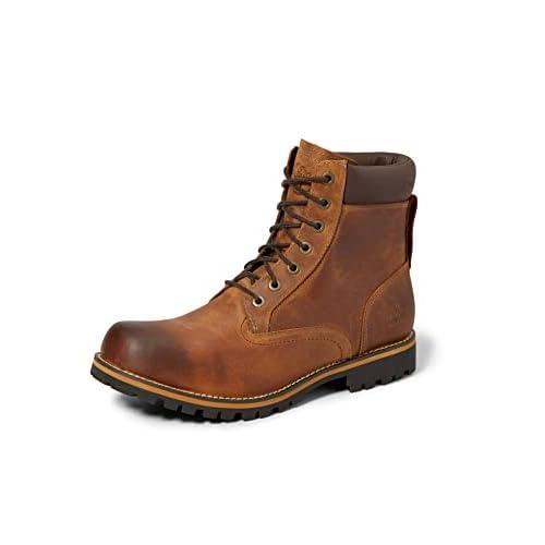 Timberland Rugged 6 inch Plain Toe Waterproof, Stivali Stringati Uomo, Marrone (Medium Brown), 45.5 EU