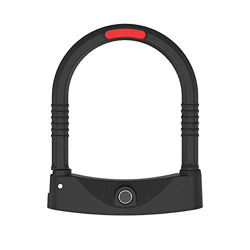 Slim ZHOUM Heavy Duty Fiets U-Lock Smart Fingerprint Lock beugelslot fietsslot Electric Motorcycle Lock seconden Open Waterproof Rust Anti-diefstal Lock Core Fietsen U Lock