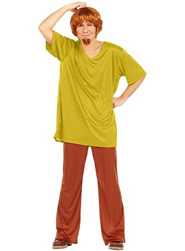 Funidelia | Disfraz de Shaggy - Scooby Doo Oficial para Hombre Talla XL ▶ Scooby Doo, Dibujos Animados - Color: Verde - Licencia: 100% Oficial - Divertidos Disfraces y complementos