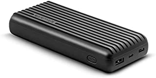 Promate 20000mAh Type-C Power Bank, Portable 3.1A Dual USB Fast Charging External Battery Pack with USB-C Input/Output Por...